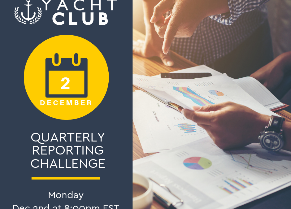 Captain Training: Quarterly Reporting Challenge
